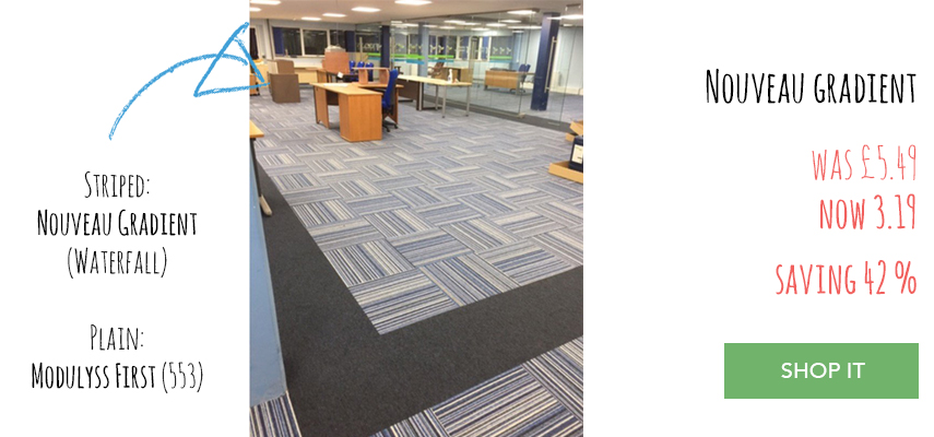 Nouveau Gradient carpet tiles and Modulyss First carpet tiles fitting service