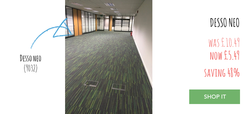 Desso Neo carpet tiles in office fitting service