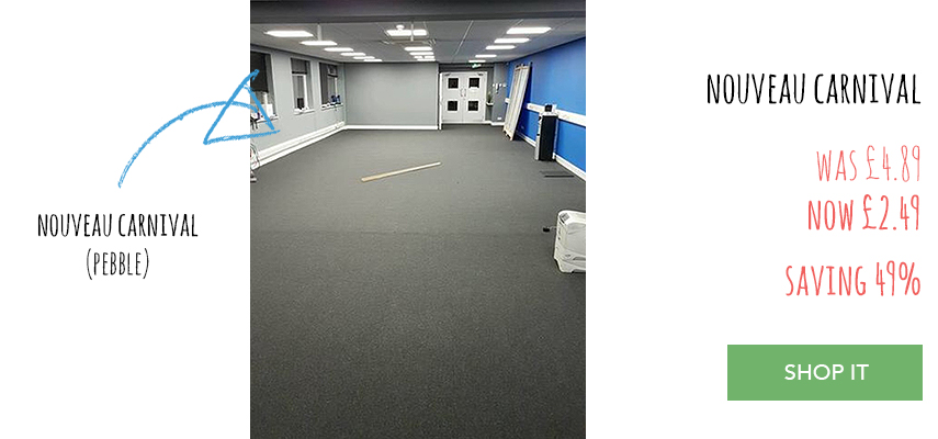 Nouveau Carnival Grey carpet tiles fitting service