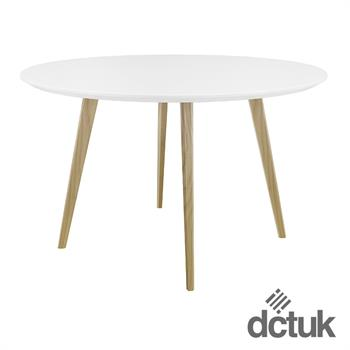 Piazza Circular Top Square Wooden Leg Table