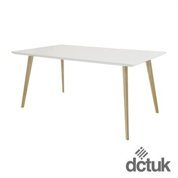 Piazza Rectangular Top Square Wooden Leg Table