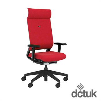 i-sit Upholstered Task Chair with Arms + Headrest