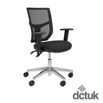 Team Plus Mesh Task Chair with Arms + Polished Base