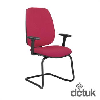 Loreto Upholstered Cantilever Chair with Arms