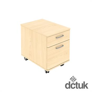 2 Drawer Low Mobile Pedestal on Castors