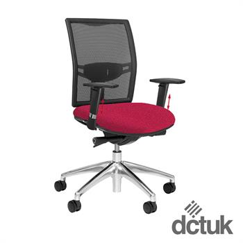 Loreto Mesh Task Chair with Arms + Aluminium Base