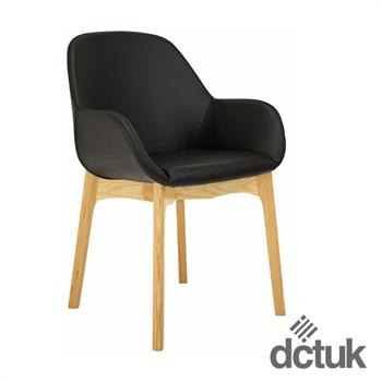 Norden Wooden Leather Chair with Beech Legs