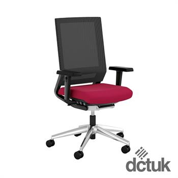 i-sit Mesh Task Chair with Arms + Polished Aluminium Base