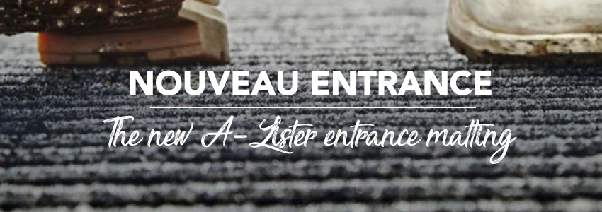 Roll out the red carpet for this entrance matting