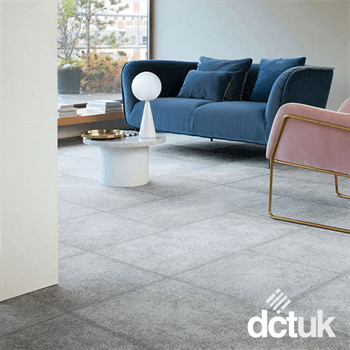 Milliken Comfortable Concrete 2.0 Laid Bare Carpet Planks