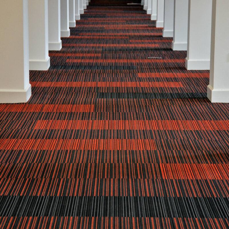 Burmatex Strands Scarlet Five Carpet Tiles Dctuk