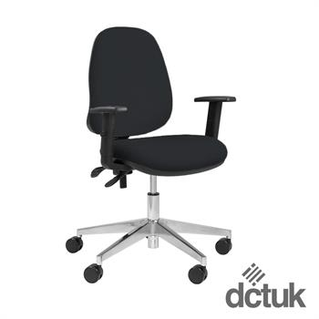 Team Plus Upholstered Task Chair with Arms + Polished Base