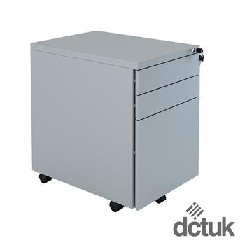 3 Drawer Steel Flat Fronted Mobile Pedestal