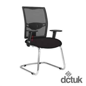 Loreto Mesh Cantilever Meeting Chair with Arms