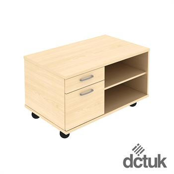 2 Drawer Mobile Under Desk Storage Unit