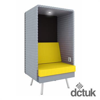 Retreat Single Seater Booth with Light & Power Socket