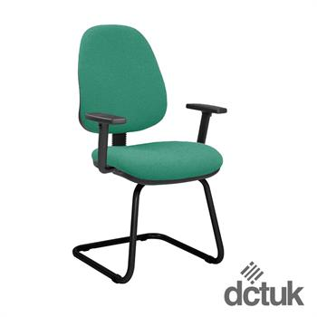 Start Upholstered Cantilever Meeting Chair with Arms