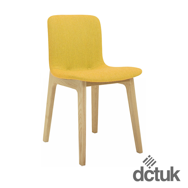 Upholstered Breakout Chair with Wooden Legs