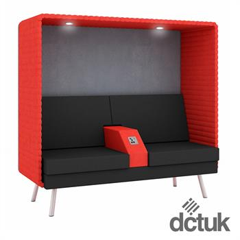 Retreat Double Booth with Armrest, Light and Power Socket