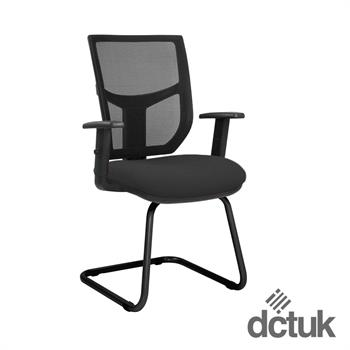 Team Plus Mesh Cantilever Meeting Chair with Arms