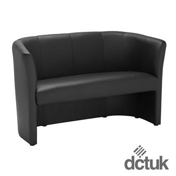 Nero Two Seater Leather Tub Chair