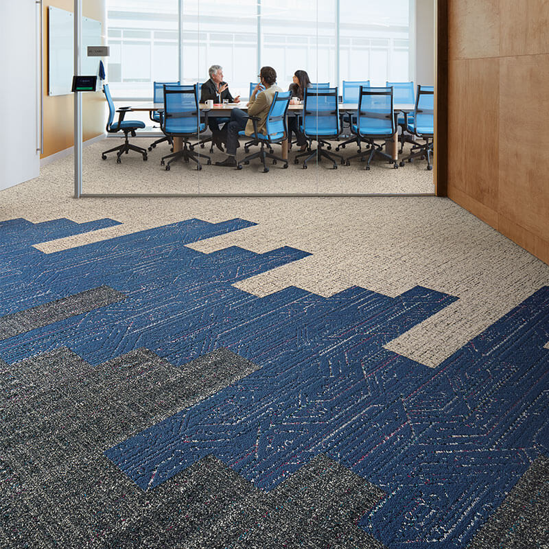 Interface Visual Code Circuit Board Carpet Planks