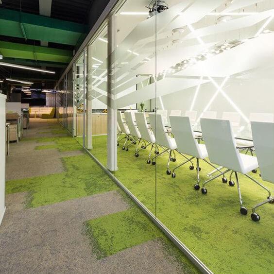 Interface biophilic carpet tiles