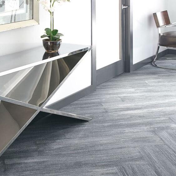 Grey wood-effect carpet plank