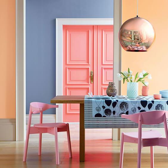 Stylish interior using ice cream shades