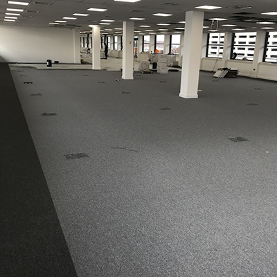 Our Nouveau Essentials commercial carpet tiles in Peel Holdings building Liverpool
