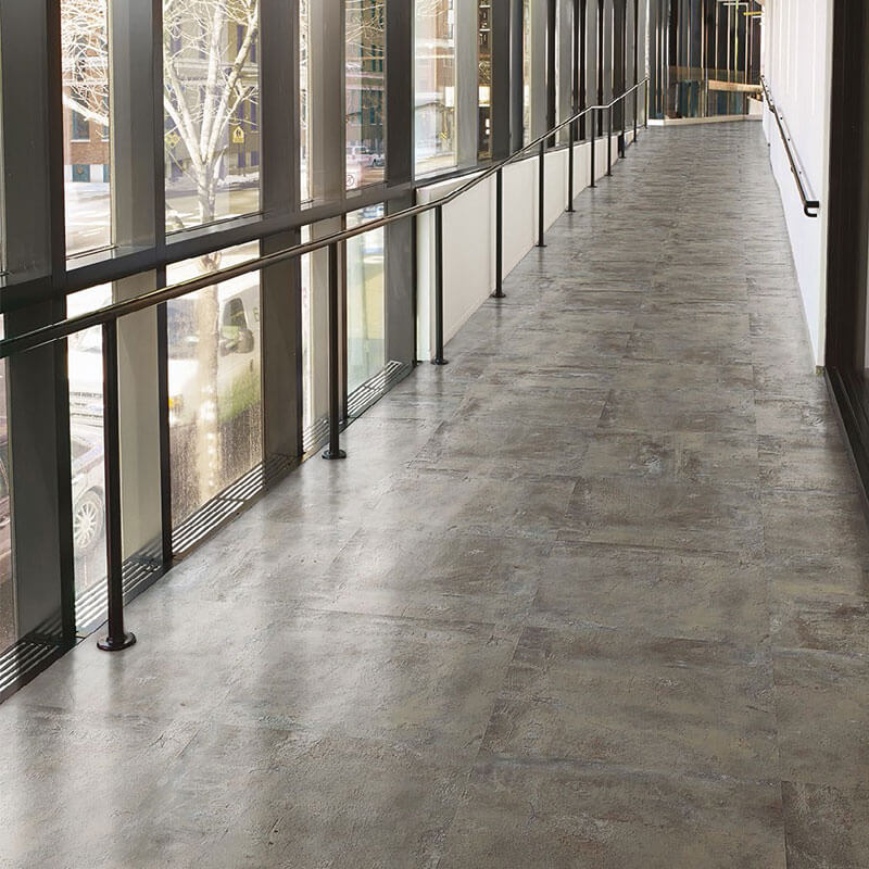 Image of long ramp with textured stone