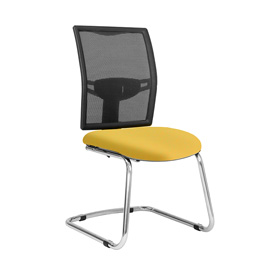Loreto Cantilever Meeting Chair with Chrome Frame