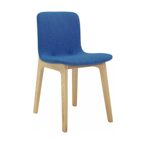 Bill Upholstered Breakout Chair with Wooden Legs