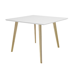 Piazza Square Top Square Wooden Leg Table