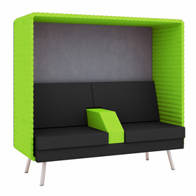 Retreat Double Booth with Armrest